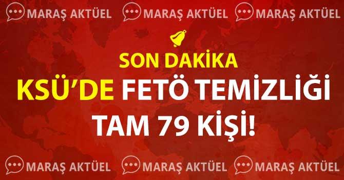 KSÜ'DE 79 KİŞİ AÇIĞA ALINDI